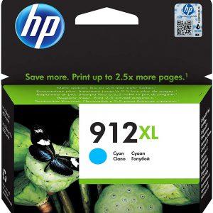 HP 912XL High Yield Cyan Original Ink Cartridge 3YL81AE